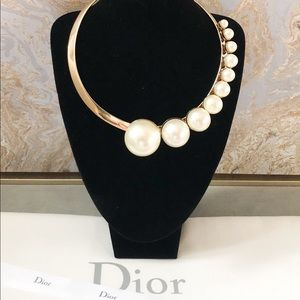 Christian Dior Mise En Dior Pearl Choker Necklace